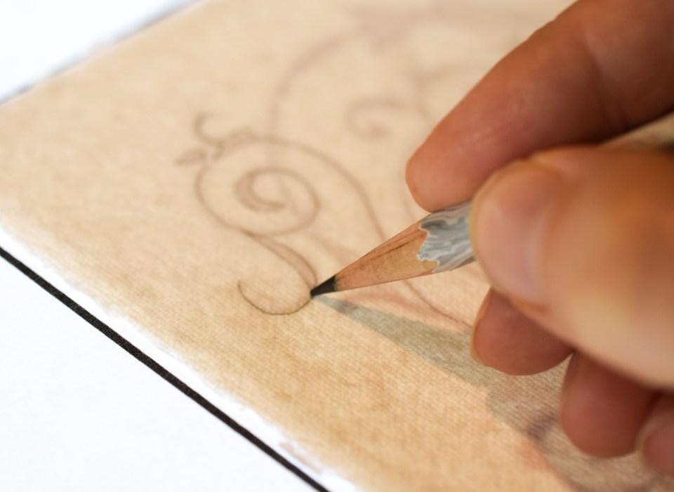Tracking an Embellished Letter