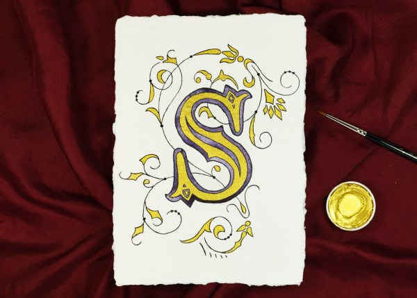 The Cheater's Illuminated Letter Tutorial