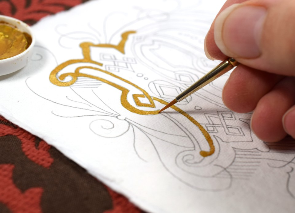 Adding Finetec Gold to an Intricate Letter