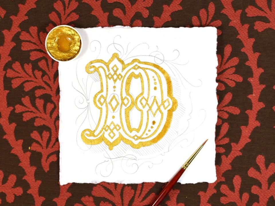 Finetec Gold on an Illuminated Letter