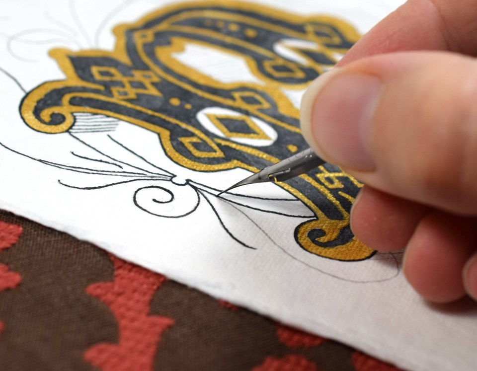 Tracing Over the Illuminated Letter