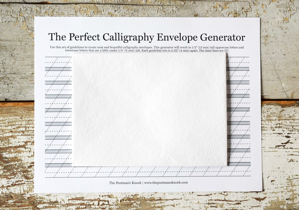 The Perfect Calligraphy Envelope Generator