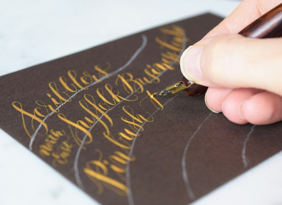 Writing Gold Calligraphy