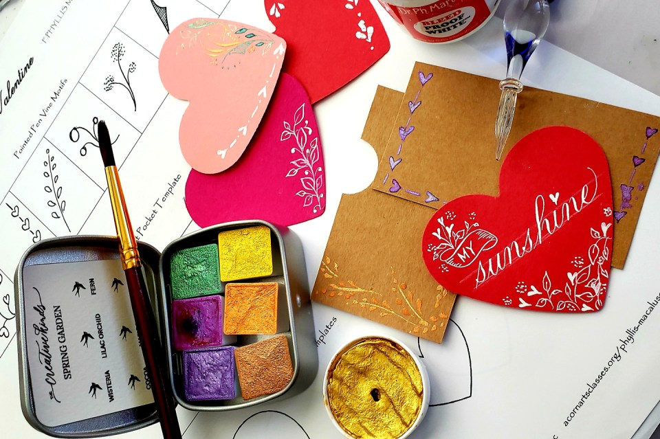 Supplies for Valentine's Day Card