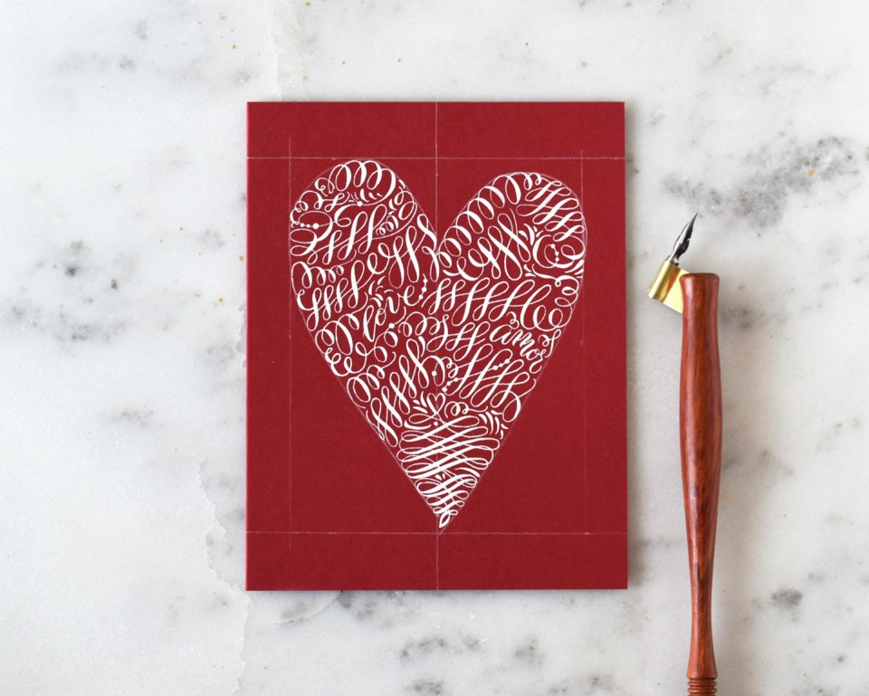 Adding Flourishes to the Valentine's Day Card