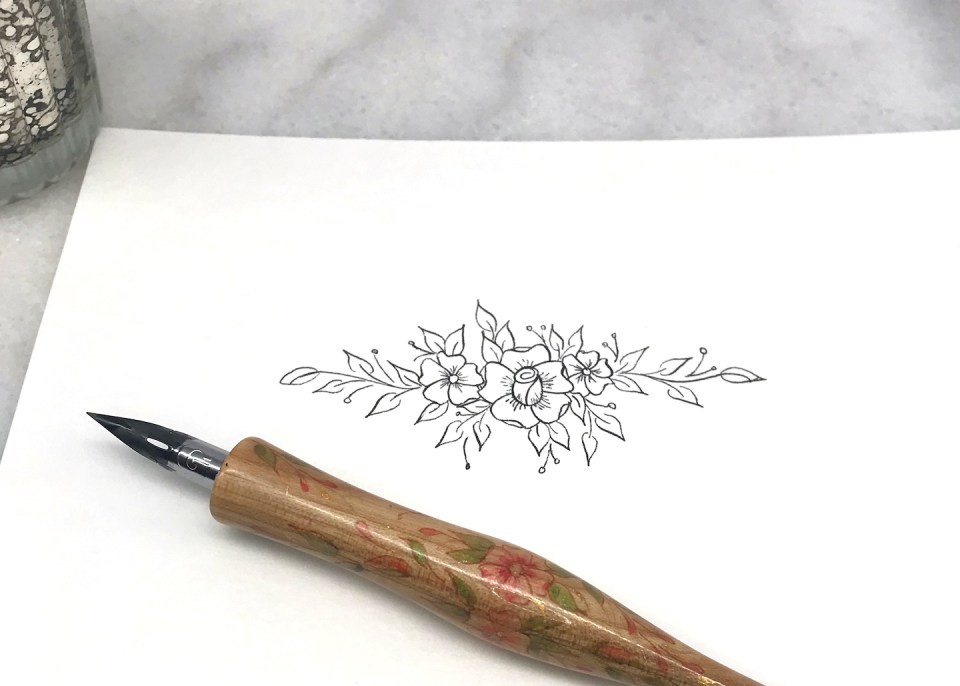 Adding Leaves to the Embellished Flowers