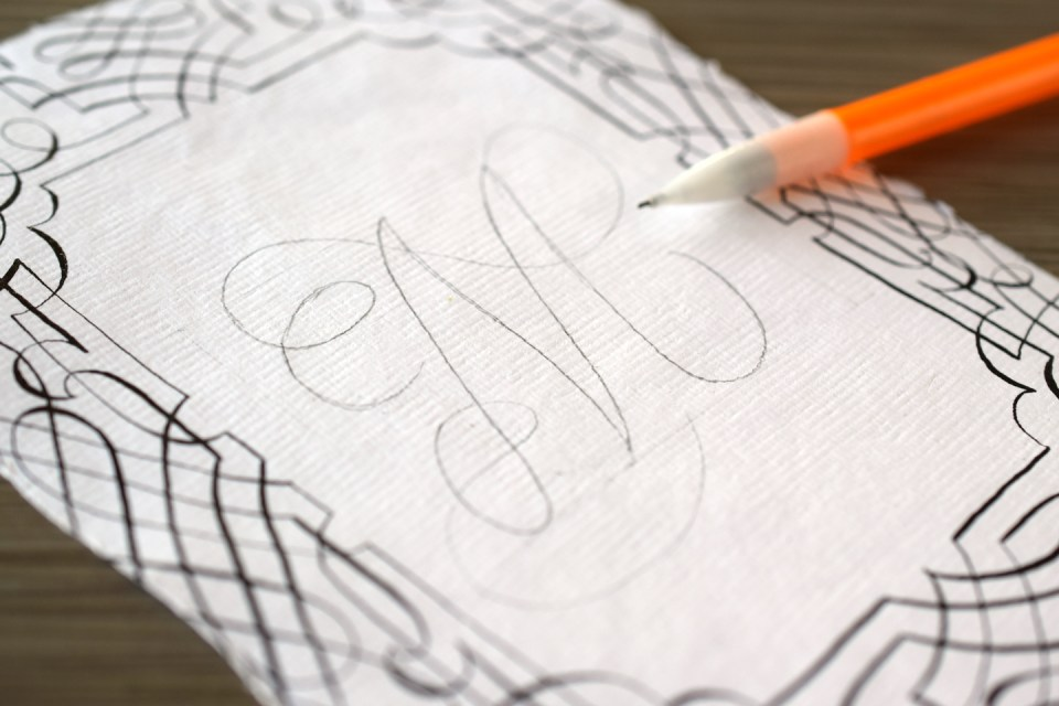 "Pencil Draft of ""M"""