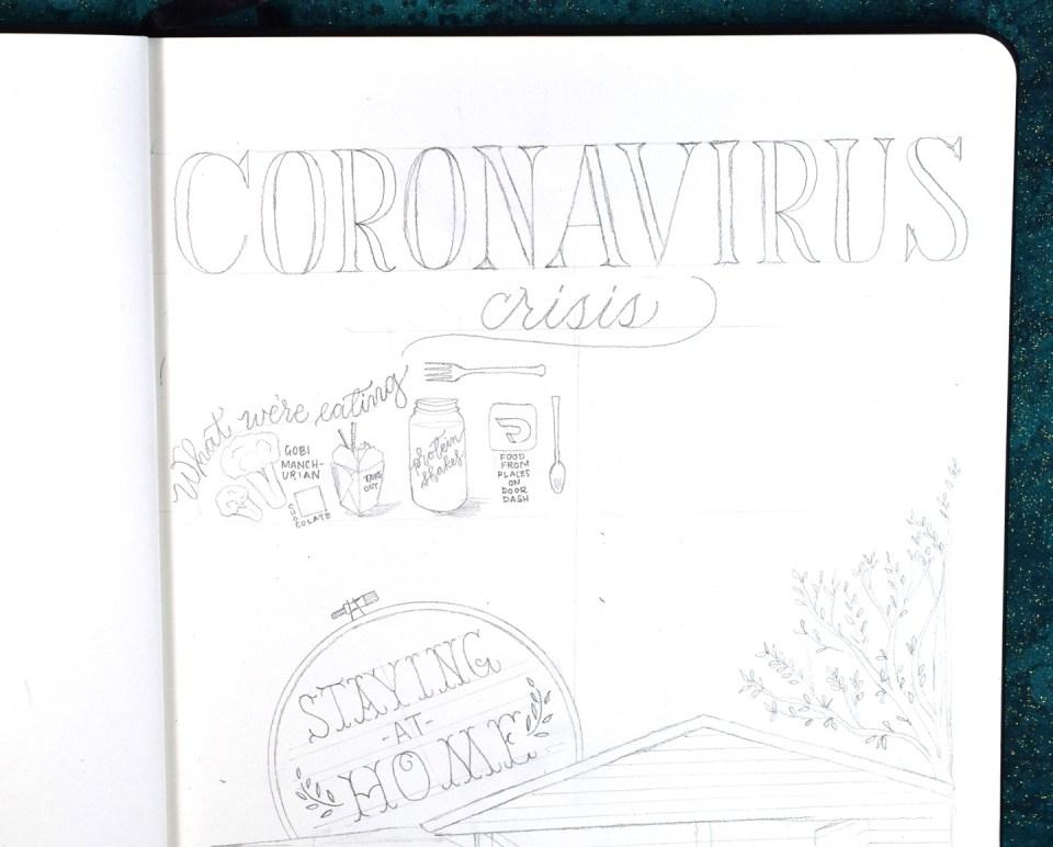 Sharing My Quarantine Sketchbook Page