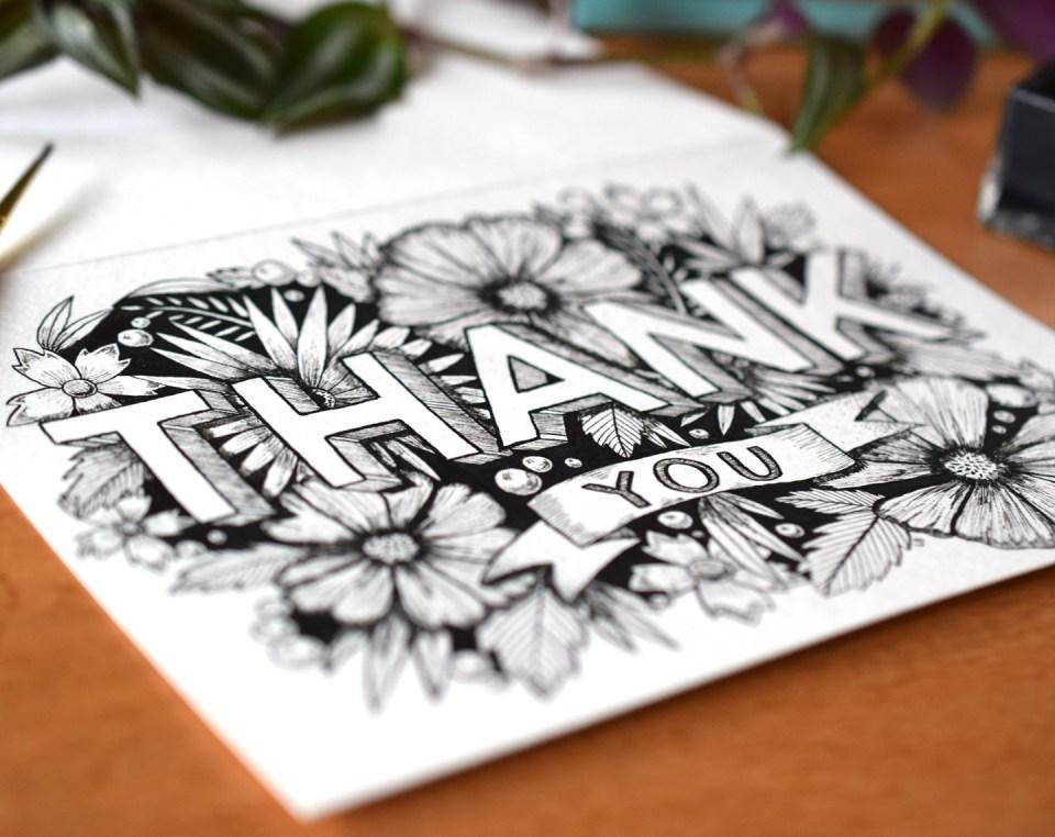 Free Gorgeous Printable Thank You Card + Tutorial