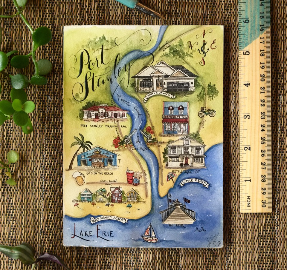 Kim G.'s Illustrated Watercolor Map