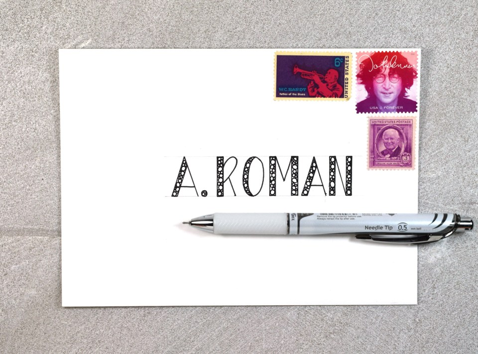 Writing the Recipient's Name in George Style Lettering