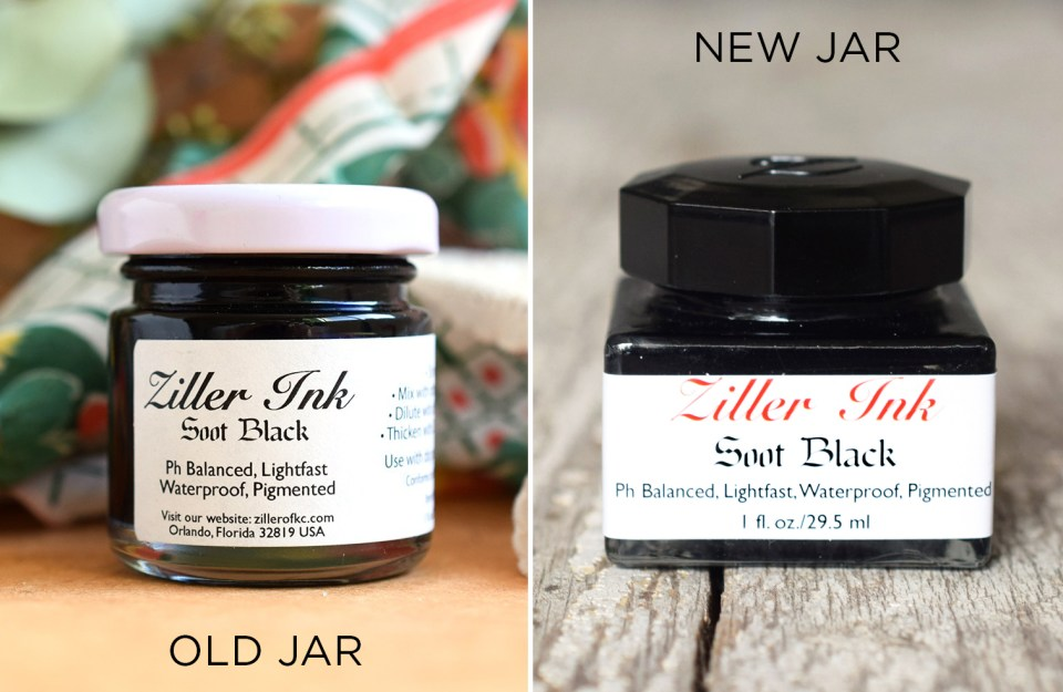 Old Ziller Ink Jar + New Ziller Ink Jar