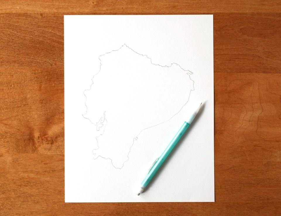 Ecuador Outline