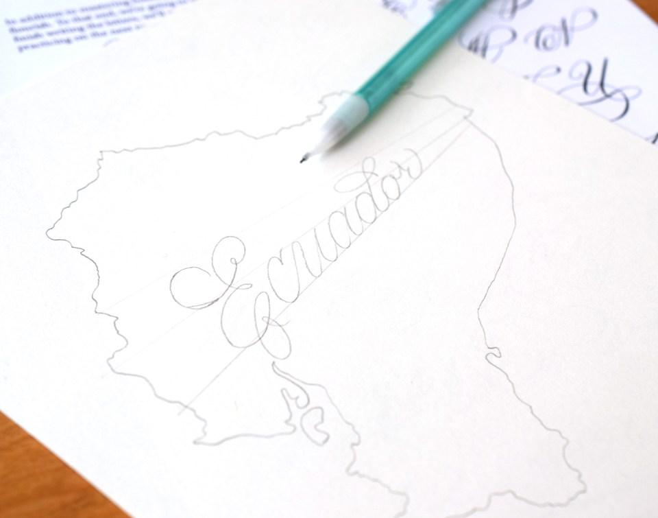Ecuador Calligraphy