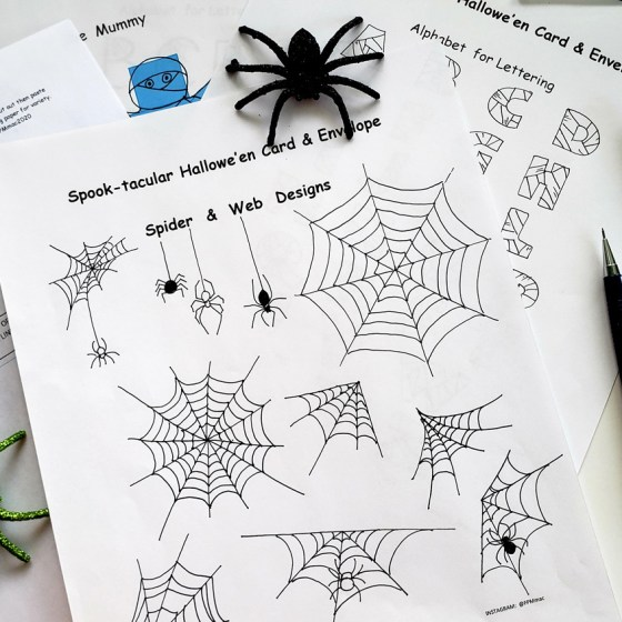 These Halloween printables will help you come up with creative seasonal greetings!