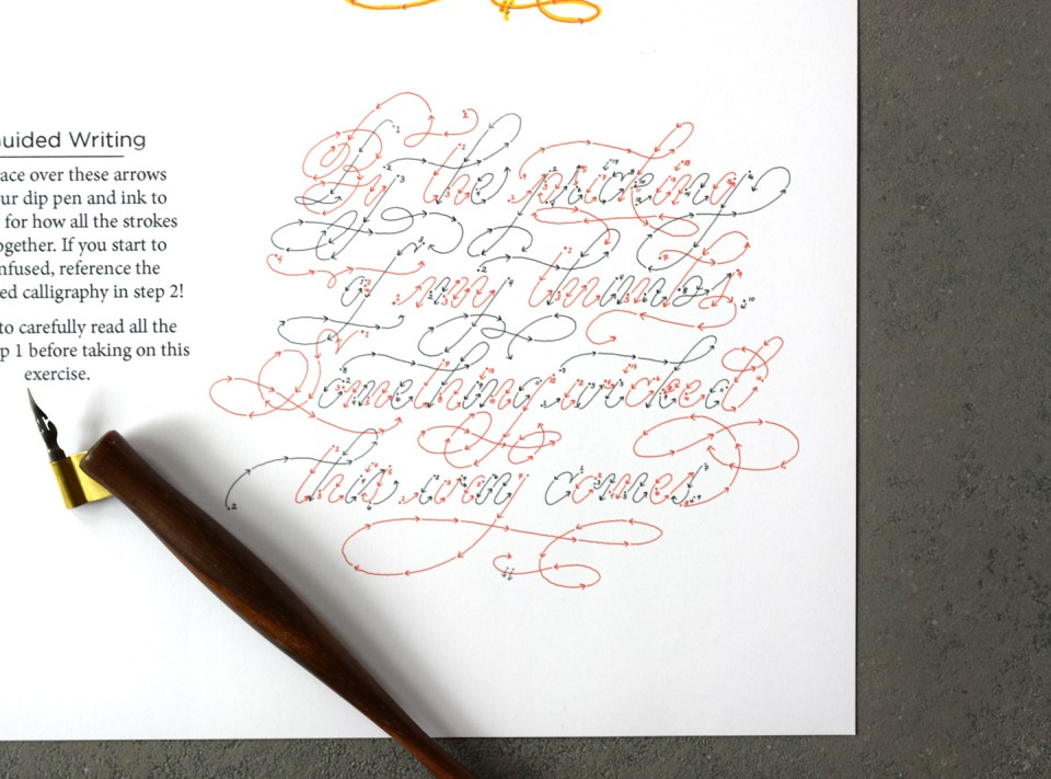 "Free ""Macbeth"" Calligraphy Flourishing Worksheet"