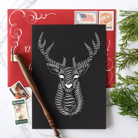 I love the reindeer motif for greeting cards!