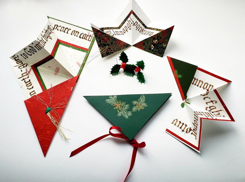 Boughs of Holly Holiday Card Tutorial by Phyllis Macaluso