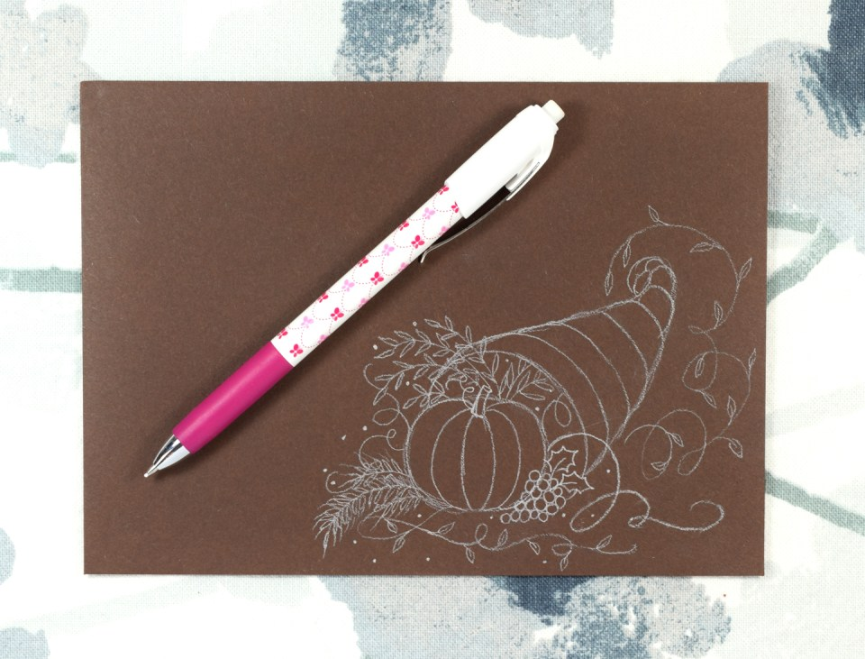Drawing a Calligraphy Cornucopia