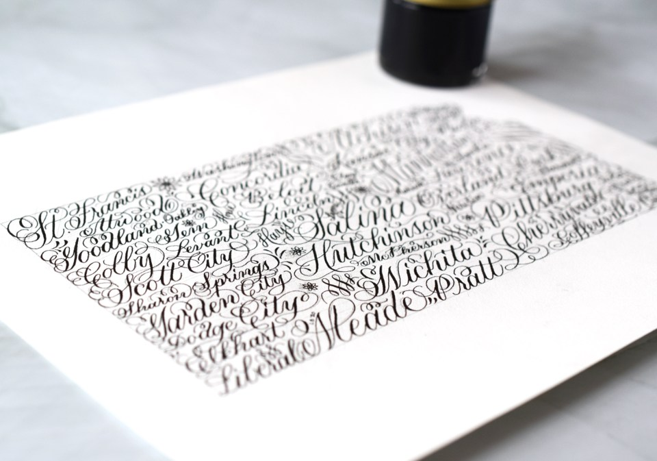 Kansas Calligraphy Art