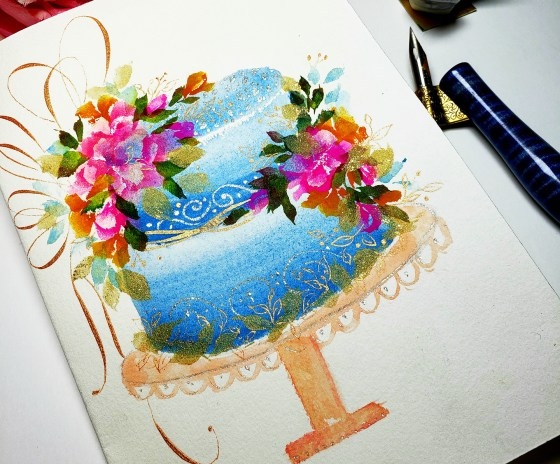 Floral Fairytale Painted Cakes Tutorial