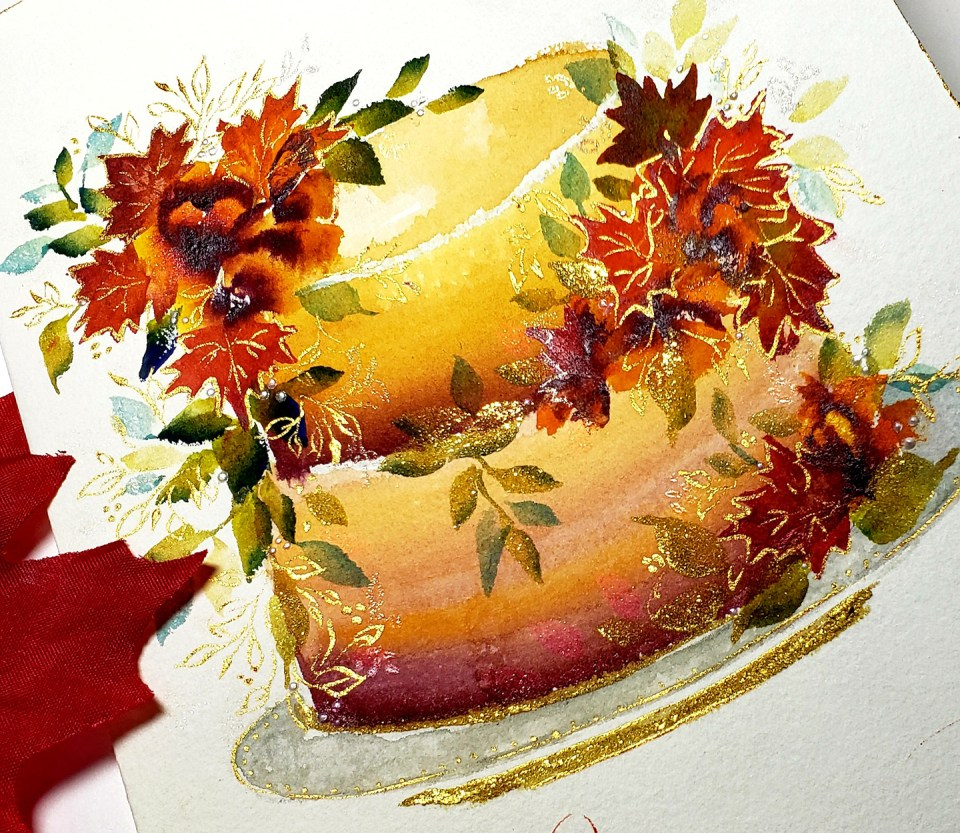 Floral Fairytale Painted Cakes Tutorial | Phyllis Macaluso