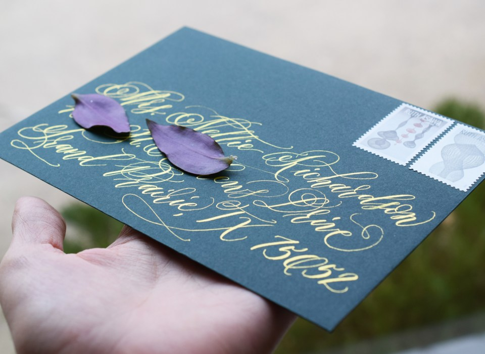 Six Calligraphy Envelopes, Two Hours