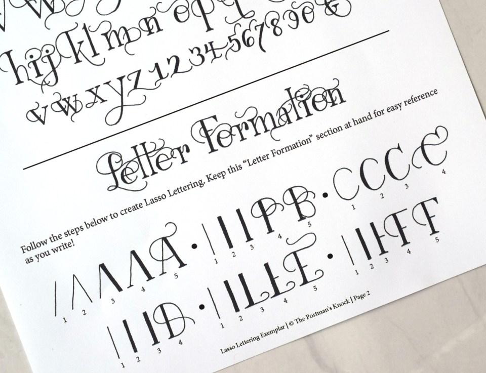 Lasso Lettering Exemplar