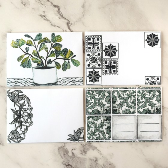 I know that TPK mail art tutorials can be a bit time-consuming, so these templates offer an efficient way to enjoy mail art without a big time investment!