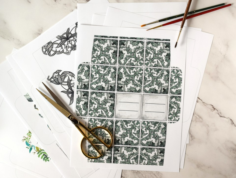 Printable Mail Art Templates