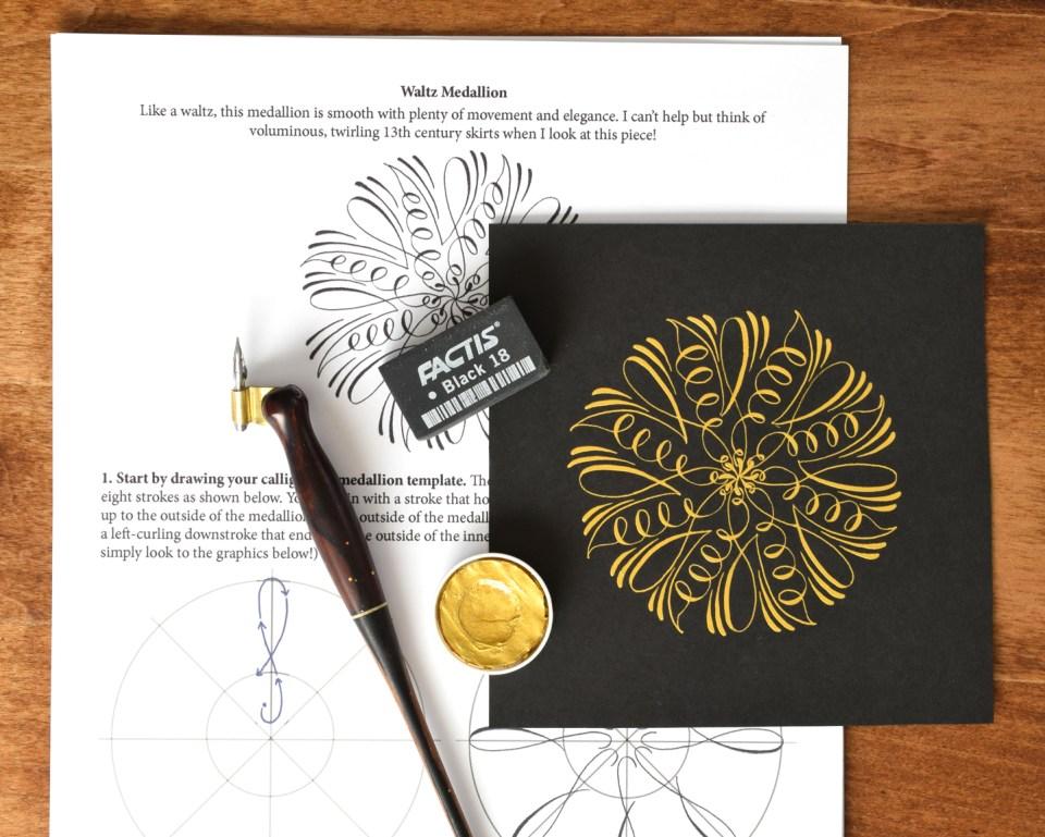 Waltz Calligraphy Medallion
