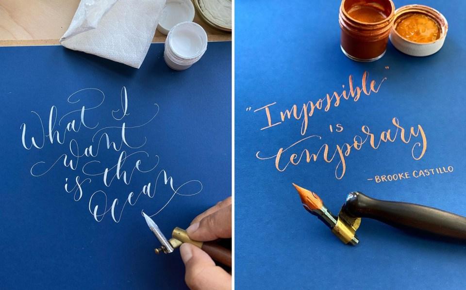 Shinah Chan's Calligraphy