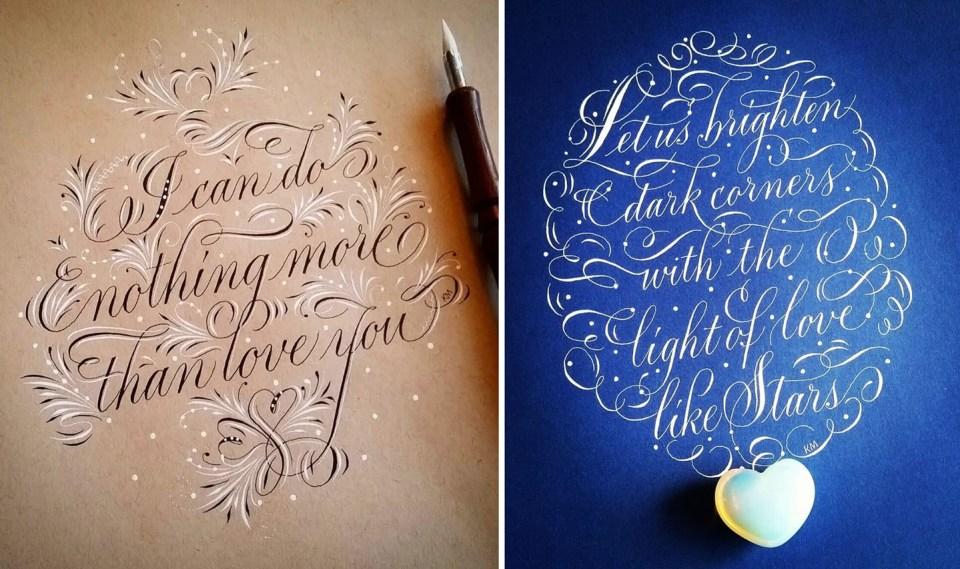 Kathy Milici's Calligraphy