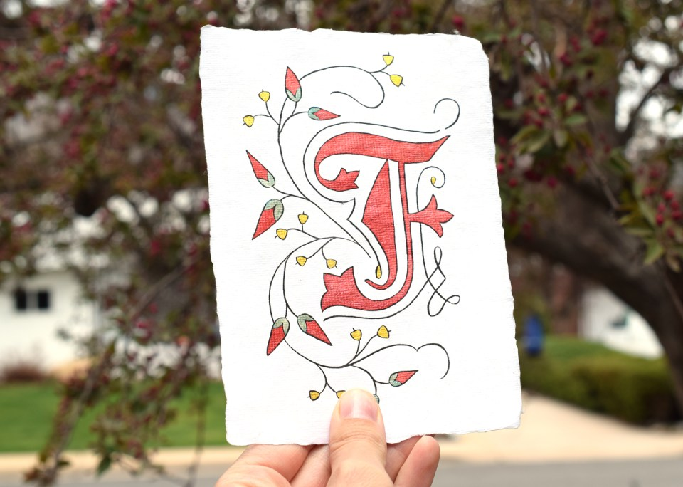 Botanical Illuminated Letter Tutorial | The Postman's Knock