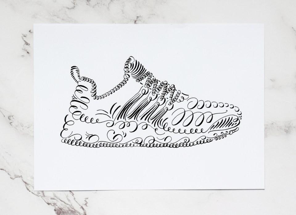Calligraphy Shoe