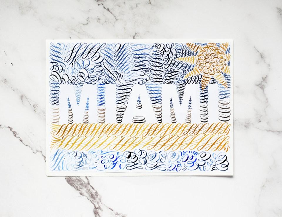 Beachy Miami Calligraphy