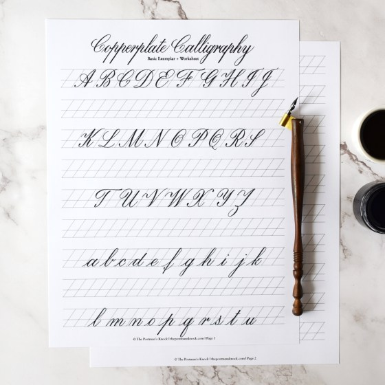 This free exemplar is perfect for getting in some casual Copperplate practice!