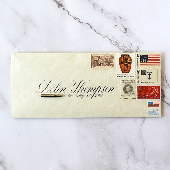 I love using Copperplate to write addresses on envelopes.