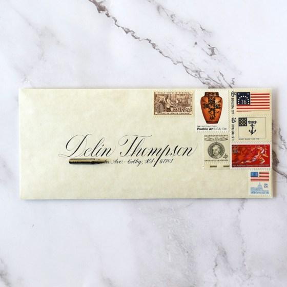 I love using Copperplate to write addresses on envelopes.