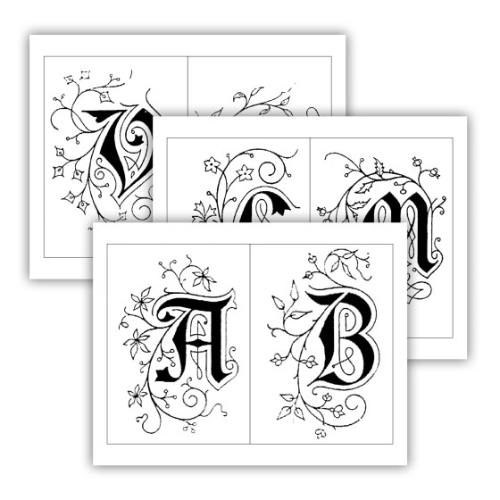 You can print and trace these letters to make fabulous gifts and cards.