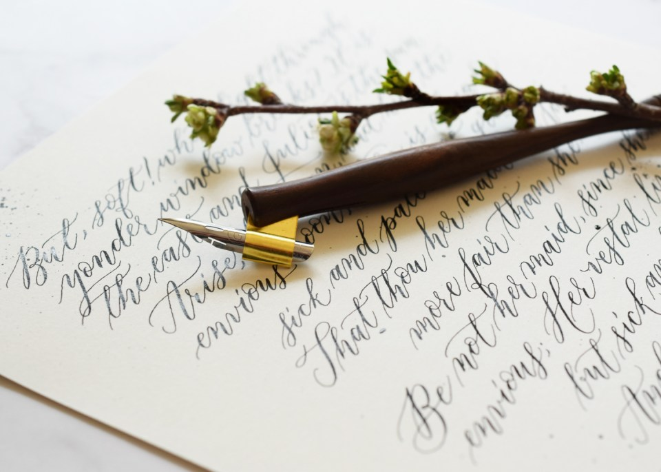 Shortcut Pointed Pen Calligraphy Passage Tutorial