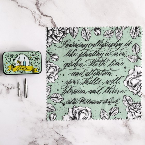 The kit includes fun little extras like this nib tin and cleaning cloth.