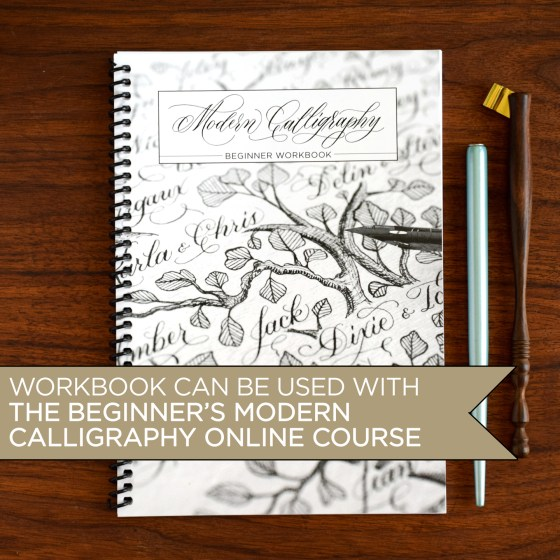 For a complete learning experience, pair this kit with TPK's Beginner's Modern Calligraphy Online Course. The workbook can be used to take the course.