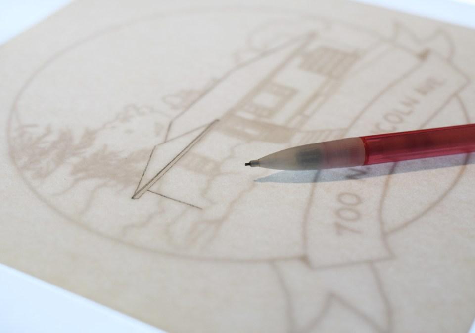 Making a House Portrait Pencil Draft