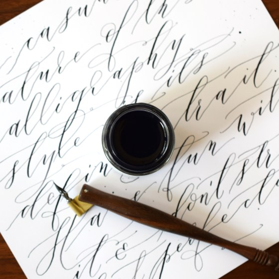This ink is capable of making super thin hairlines and thick, rich downstrokes.