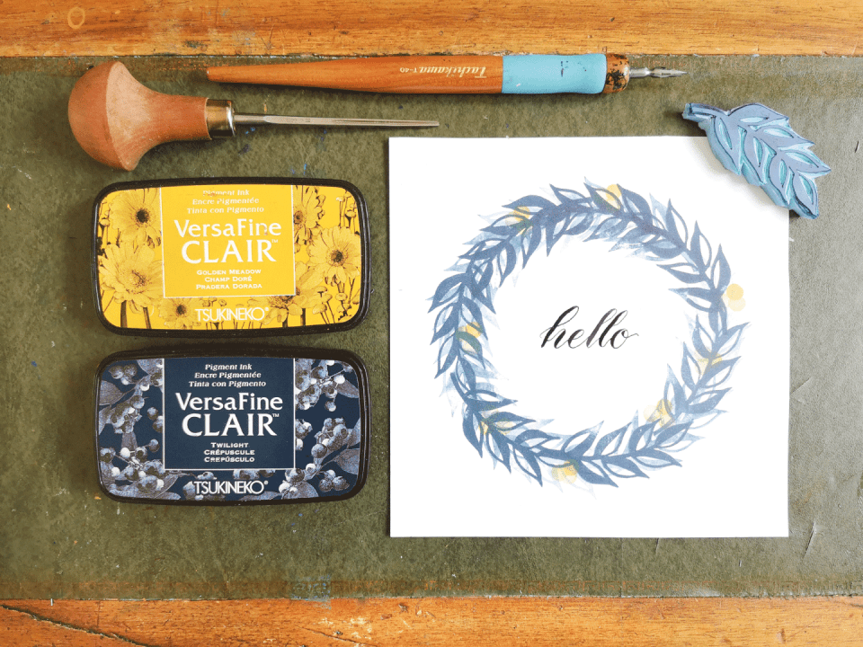 Simple Block Printing Tutorial by Marie Le Moal