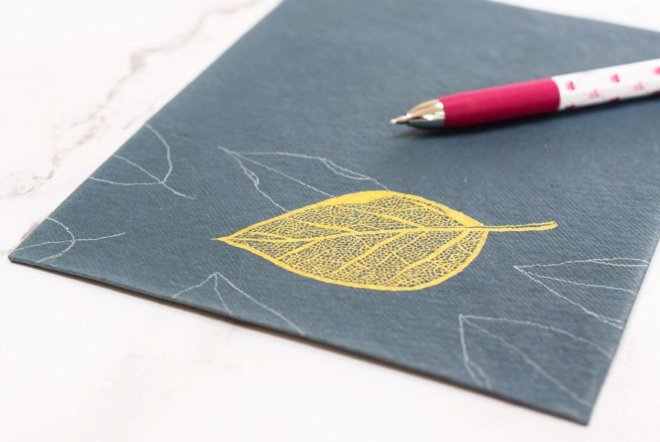 Stunning + Simple Filigree Illustrated Leaf