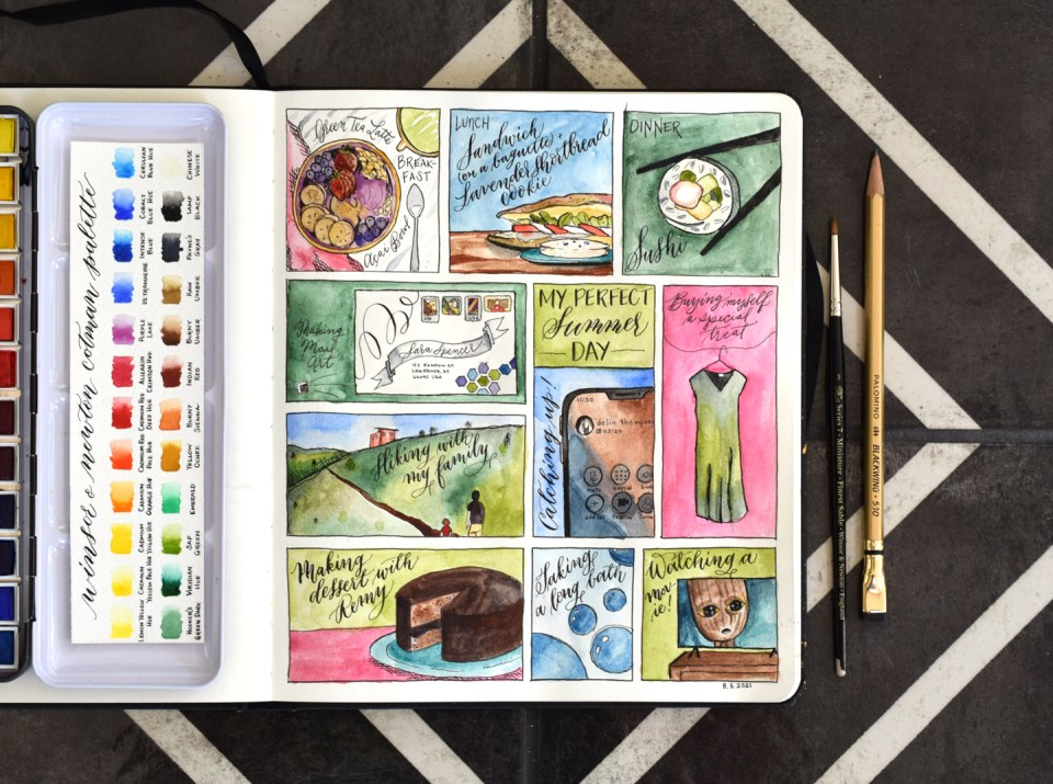"""☀️ """"My Perfect Summer Day"""" Sketchbook Page Tutorial"""