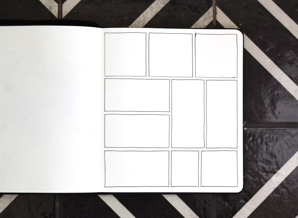 Drawing Squares in My Sketchbook