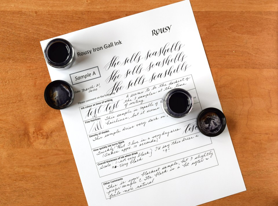 Testing iron gall inks